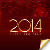 New year illustration. Vector golden happy new year style background Royalty Free Stock Photo