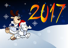 New year illustration Royalty Free Stock Photography