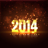 New year illustration. Vector illustration of happy new year 2014 Royalty Free Stock Photos