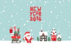 New Year 2016 illustration Royalty Free Stock Photo