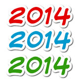 New year 2014. Illustration new year - written 2014 different colors Royalty Free Stock Photography