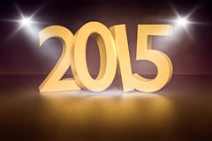 New year 2015. An image of the number 2015 new year stage Royalty Free Stock Photo