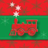 New Year image of the steam locomotive. Royalty Free Stock Images