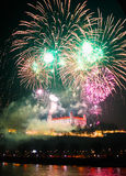 New Year and Independence day celebration in Bratislava, Slovaki Royalty Free Stock Photos
