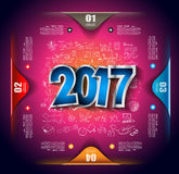 2017 New Year Infograph and Business Plan Background Stock Images