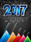 2017 New Year Infograph and Business Plan Background Royalty Free Stock Photo