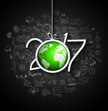 2017 New Year Infographic and Business Plan Background Royalty Free Stock Images