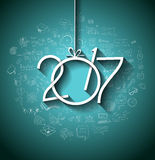 2017 New Year Infographic and Business Plan Background for your Flyers Stock Image