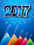 2017 New Year Infographic and Business Plan Background. For your Flyers and Hand Drawn Business and infographic sketches Stock Images