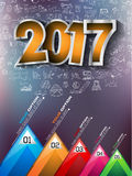 2017 New Year Infographic and Business Plan Background Royalty Free Stock Image