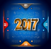 2017 New Year Infographic and Business Plan Background for your Flyers Royalty Free Stock Photo