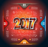 2017 New Year Infographic and Business Plan Background Stock Photos
