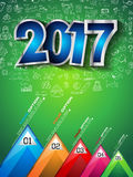 2017 New Year Infographic and Business Plan Background Royalty Free Stock Photos