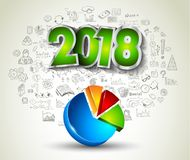 2018 New Year Infographic and Business Plan Backgroundwith Stock Photos