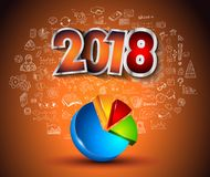 2018 New Year Infographic and Business Plan Backgroundwith Royalty Free Stock Images