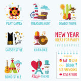 New Year Infographic Royalty Free Stock Photography