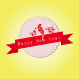 New year inon with Chinese style Stock Photo