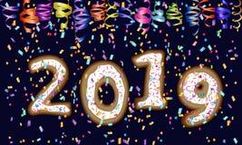 2019 New Year design royalty free illustration