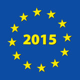 2015 new year. Inside EU stars Stock Photography