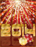 New 2014 year invitation card Stock Images