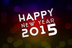 2015 new year , invitation, flying bubbles Stock Image