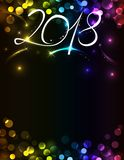 New Year 2018 invitation Royalty Free Stock Images