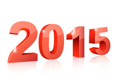 The new year 2015. Isolated Stock Images