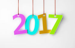 New Year 2017. Isolated on  Background Royalty Free Stock Images