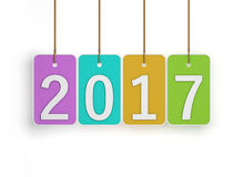 New Year 2017. Isolated on Background Vector Illustration