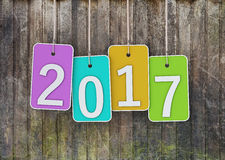 New Year 2017. Isolated on  Background Stock Image