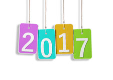 New Year 2017. Isolated on  Background Royalty Free Stock Photo
