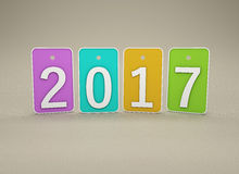 New Year 2017. Isolated on  Background Royalty Free Stock Photos