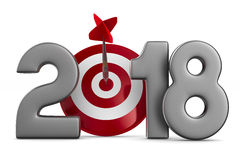 2018 new year. Isolated 3D. Illustration Royalty Free Stock Photo