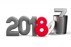 2018 new year. Isolated 3D illustration.  Royalty Free Stock Image