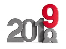 2019 new year. Isolated 3D illustration Royalty Free Stock Photos