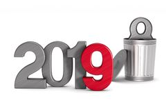 2019 new year. Isolated 3D illustration Royalty Free Stock Photo