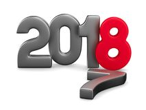 2018 new year. Isolated 3D illustration.  Stock Photography