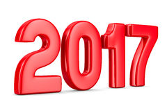 2017 new year. Isolated 3D image Stock Image