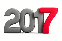 2017 new year. Isolated 3D image Royalty Free Stock Photos