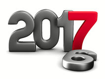 2017 new year. Isolated 3D image Royalty Free Stock Image