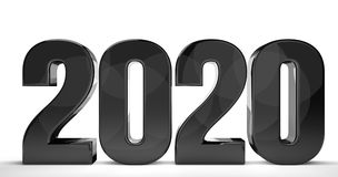 2020 new year isolated 3d render sylvester number Royalty Free Stock Photos