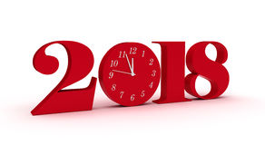 New Year 2018. Isolated on white background Stock Image