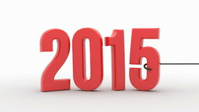 New Year 2016 isolated on white background stock video footage