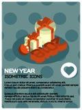 New year isometric poster. Vector illustration, EPS 10 vector illustration