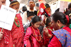 New Year in Kathmandu Stock Photography