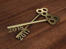 New Year 2018 with Key Royalty Free Stock Photo