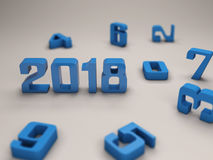 New Year 2018 with Key Stock Images