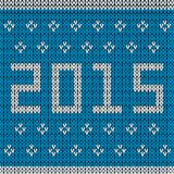 New year knitted background Stock Photo