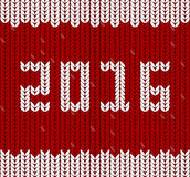 New Year 2016 knitted fabric, knit pattern Royalty Free Stock Photo