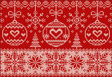 New Year knitted northern pattern stock images